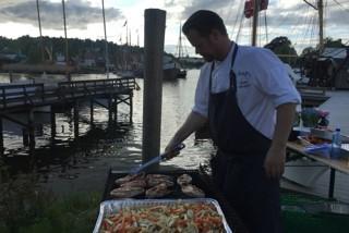 Grilling på kaia